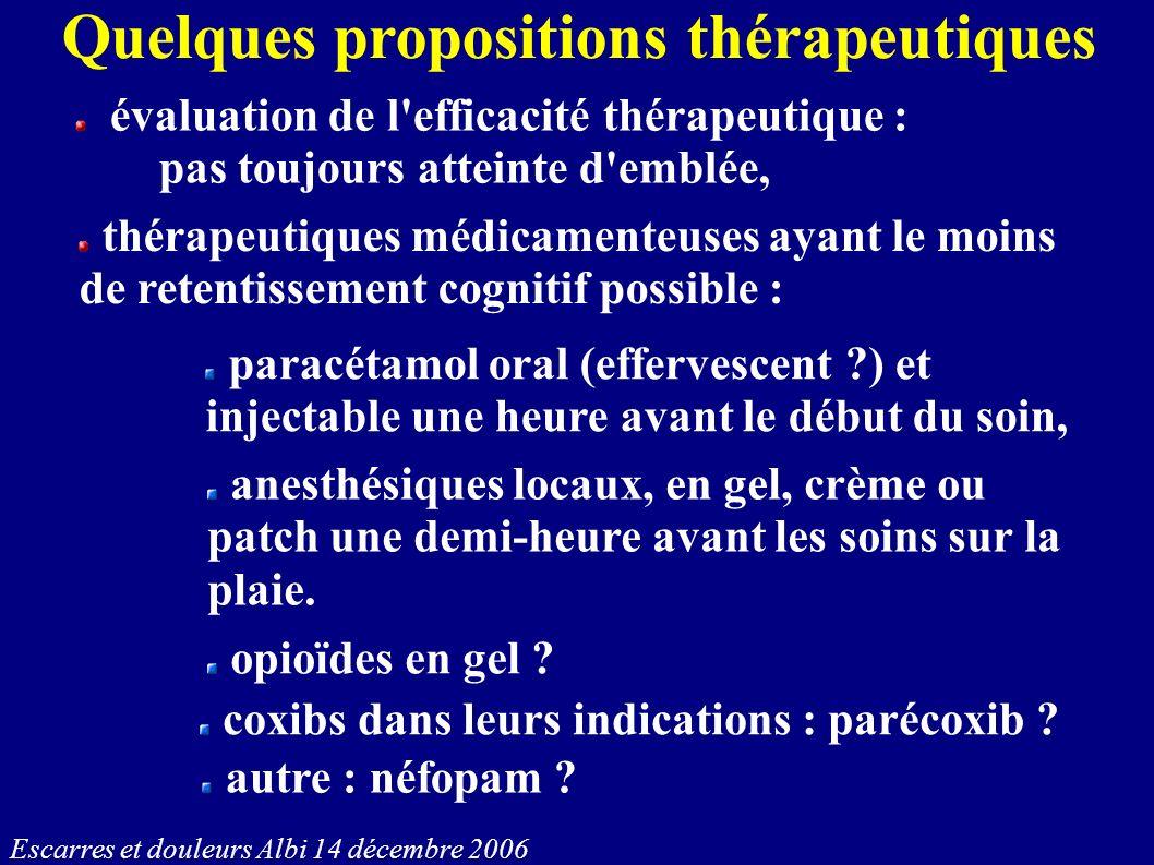 Quelques propositions thérapeutiques
