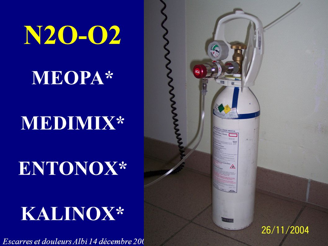 N2O-O2 MEOPA* MEDIMIX* ENTONOX* KALINOX*