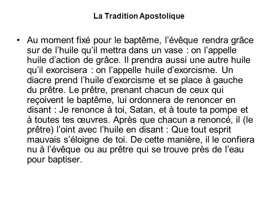 La Tradition Apostolique