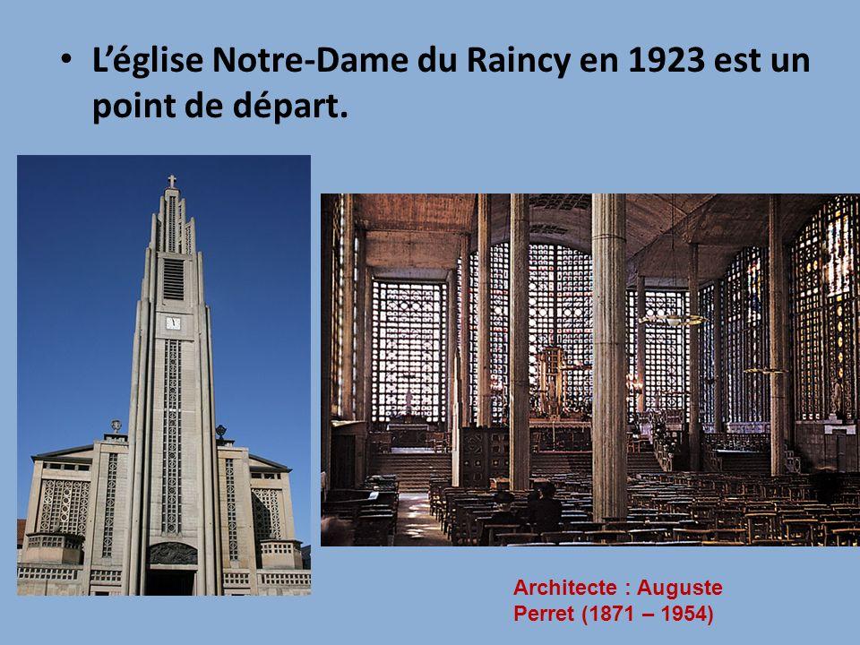 L'église Notre-Dame du Raincy en 1923 est un point de départ.