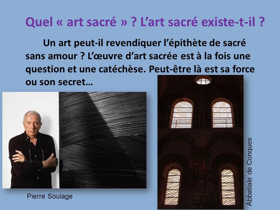 Quel « art sacré » L'art sacré existe-t-il