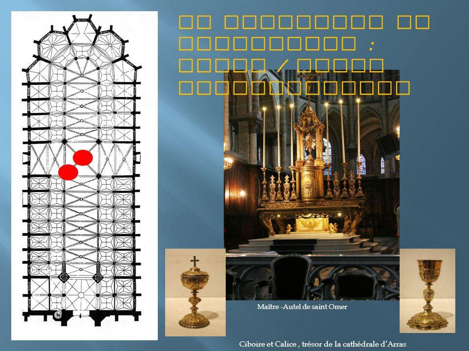 Le sacrifice et offertoire : autel / table eucharistique