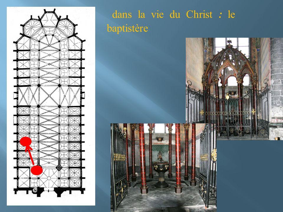 dans la vie du Christ : le baptistère