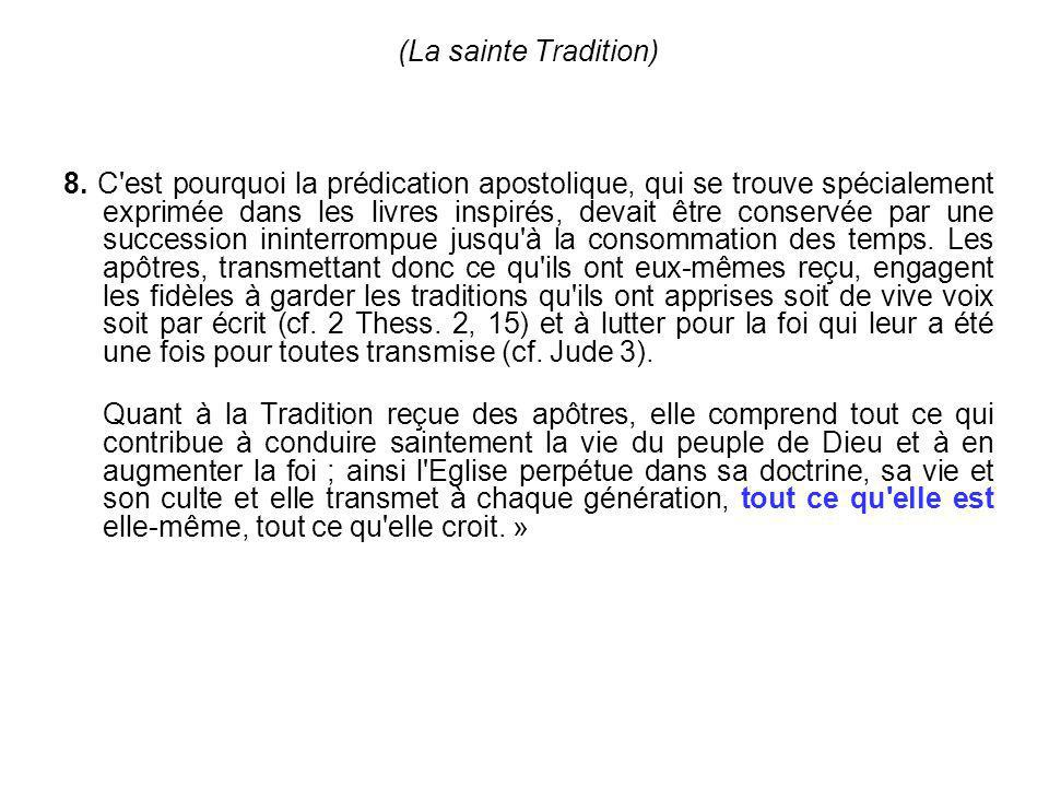 (La sainte Tradition)