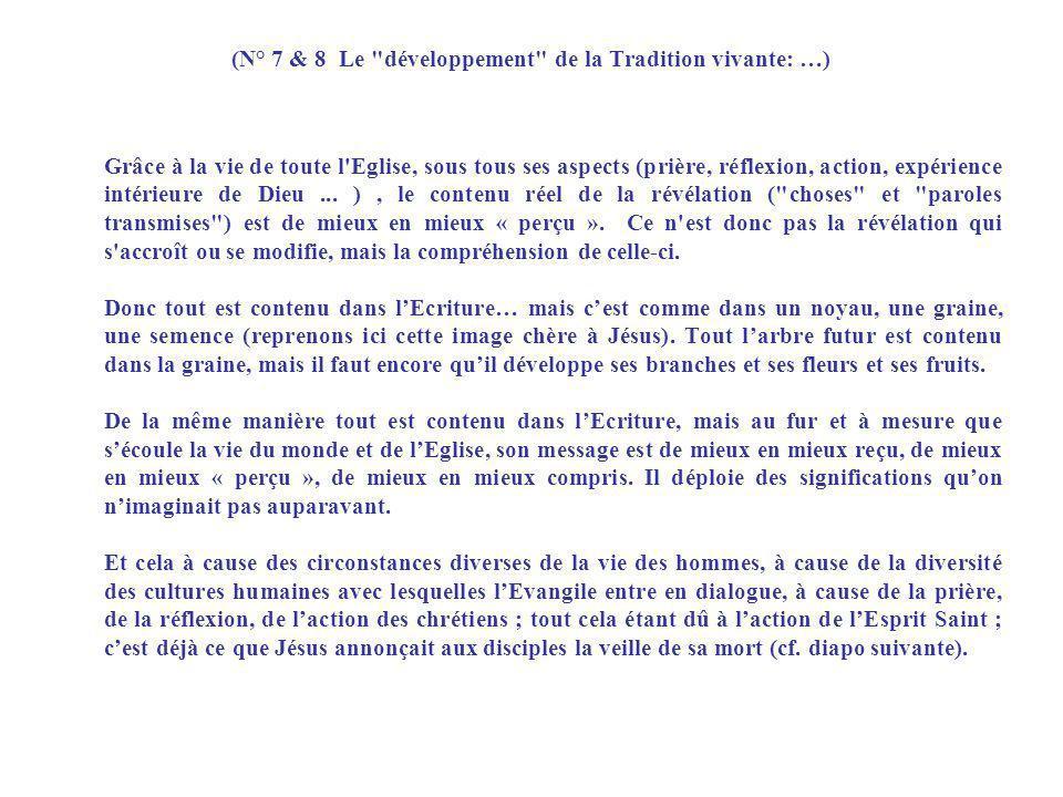(N° 7 & 8 Le développement de la Tradition vivante: …)