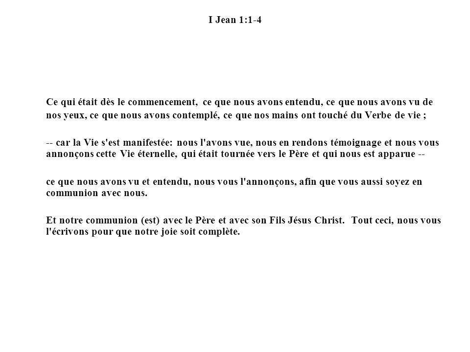 I Jean 1:1-4