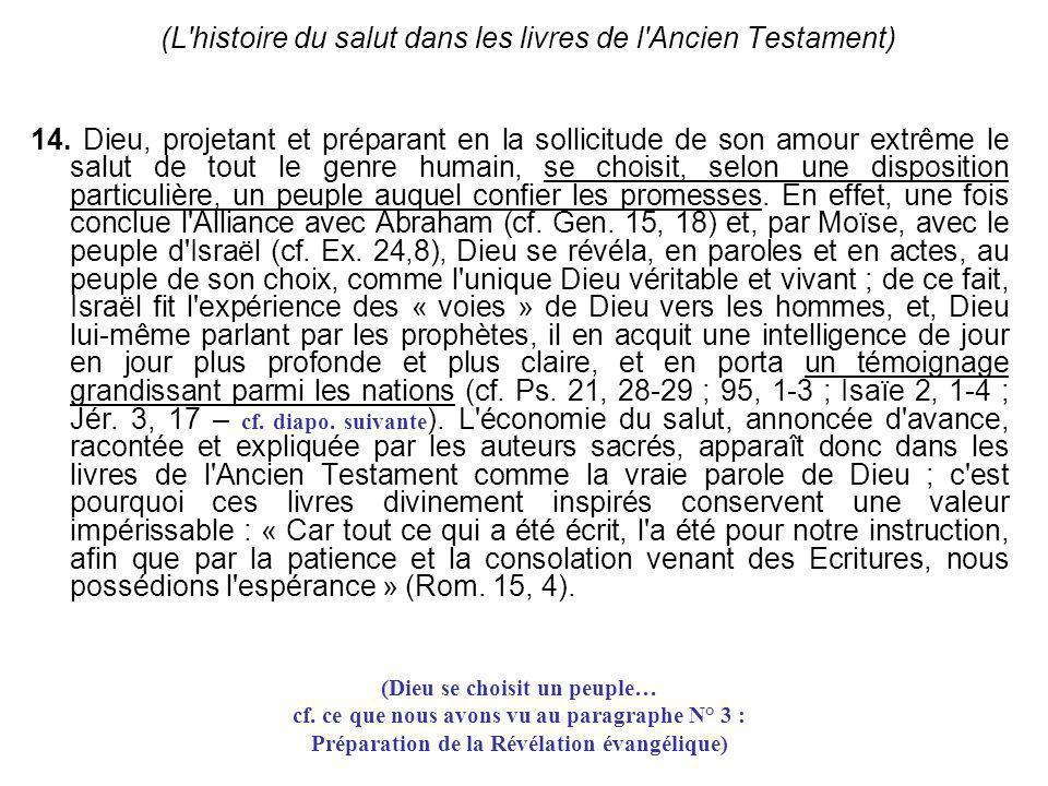 (L histoire du salut dans les livres de l Ancien Testament)
