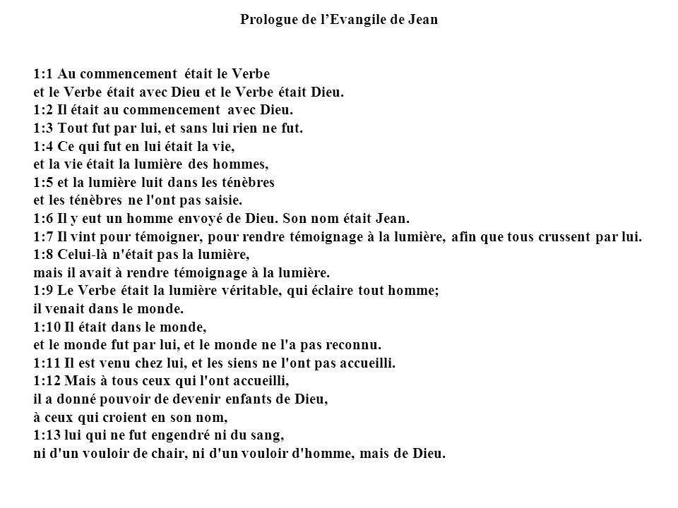 Prologue de l'Evangile de Jean