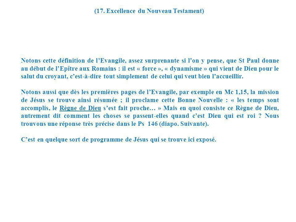 (17. Excellence du Nouveau Testament)
