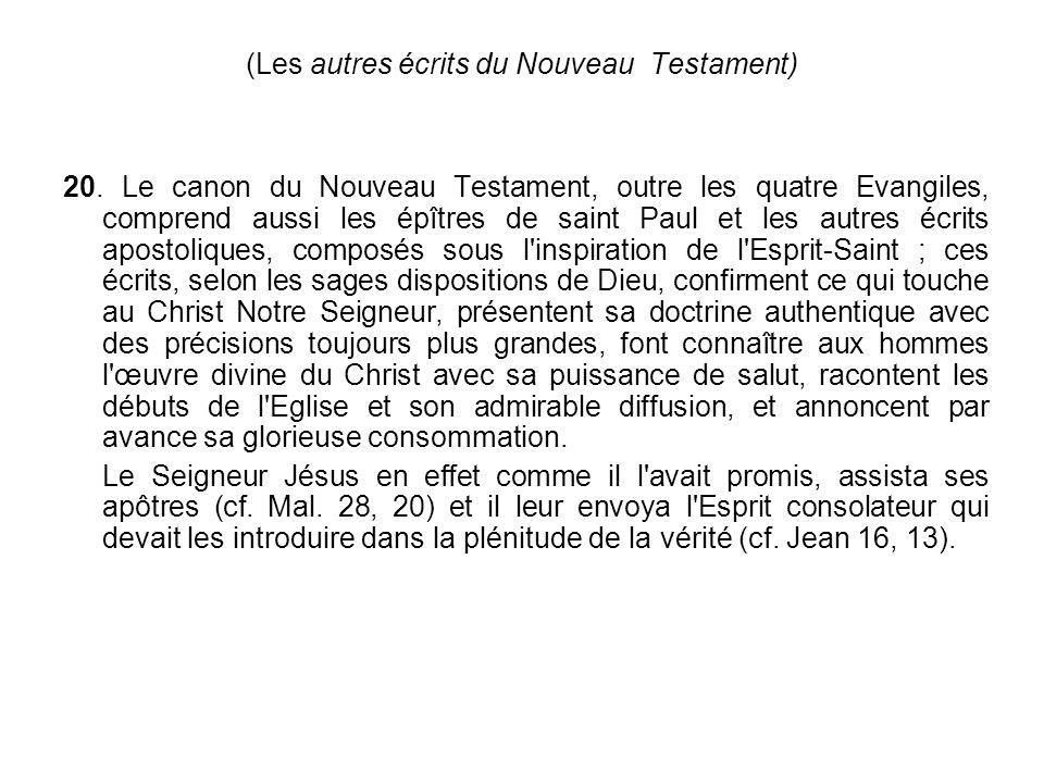 (Les autres écrits du Nouveau Testament)
