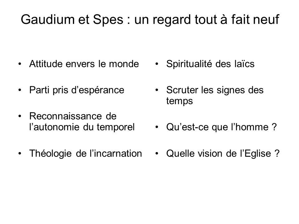 Gaudium et Spes : un regard tout à fait neuf