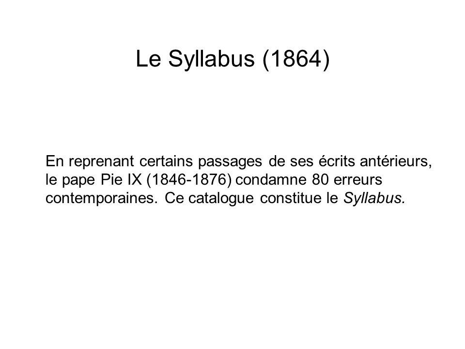 Le Syllabus (1864)