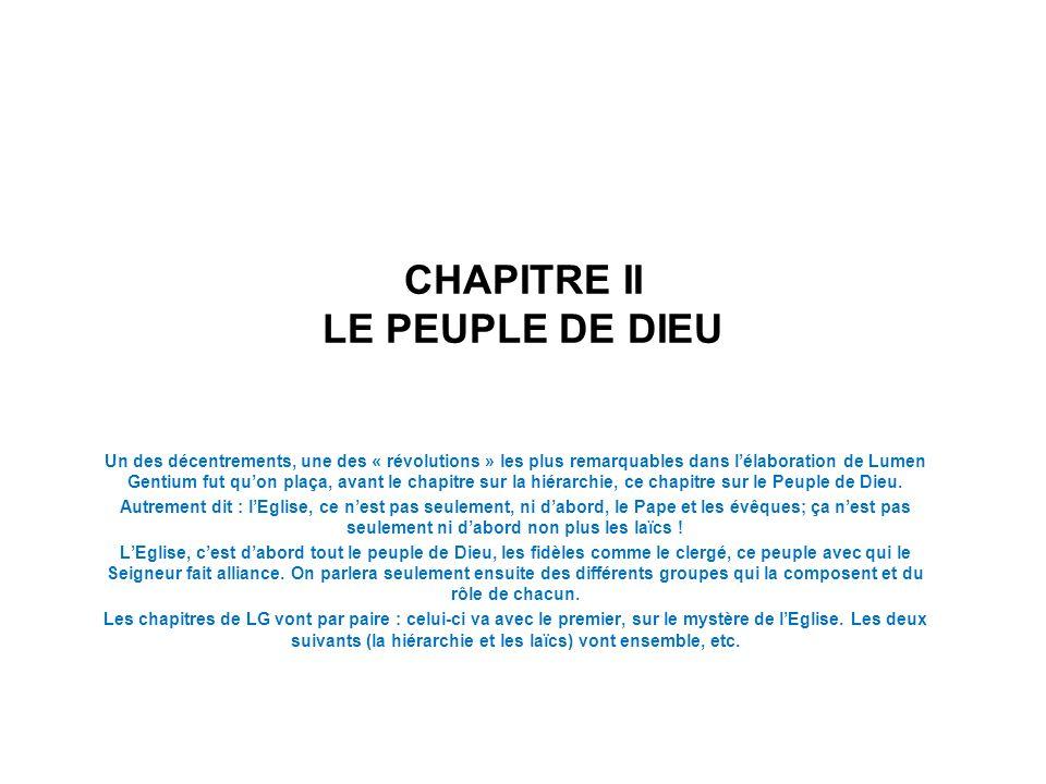 CHAPITRE II LE PEUPLE DE DIEU