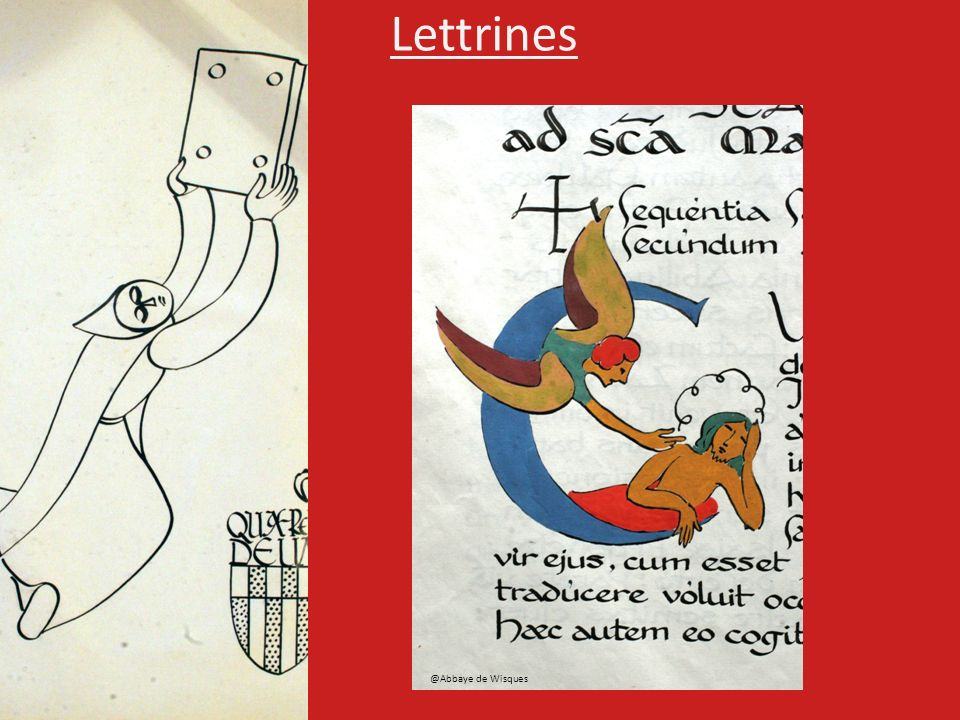 Lettrines @Abbaye de Wisques