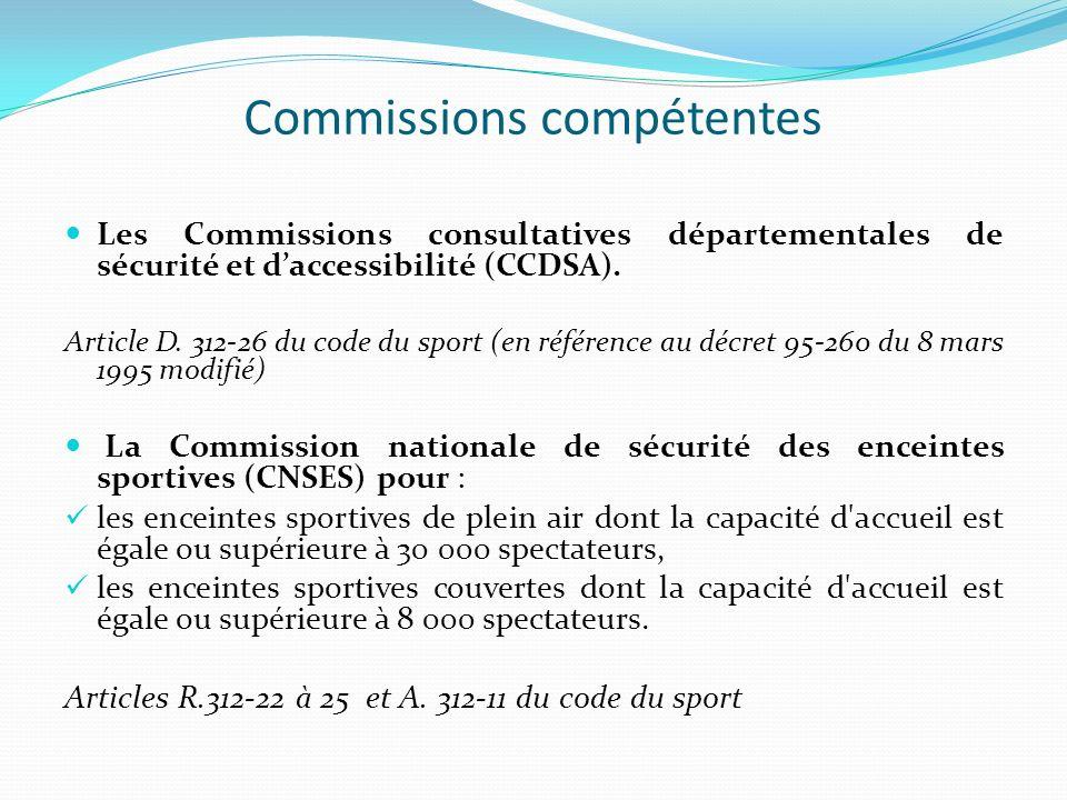Commissions compétentes