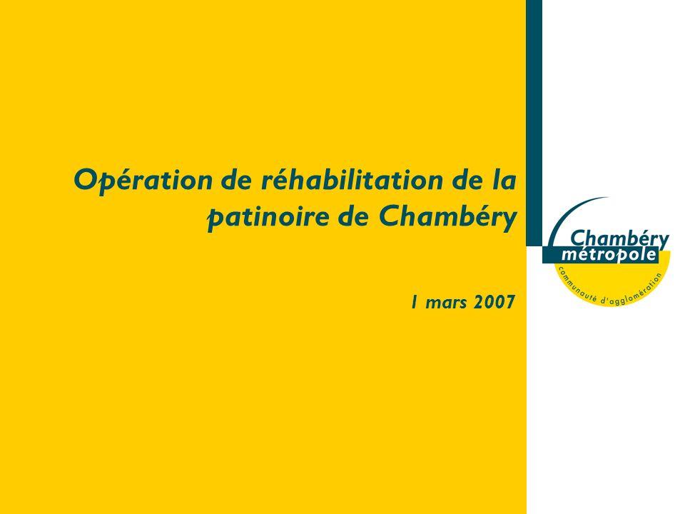 Opération de réhabilitation de la patinoire de Chambéry