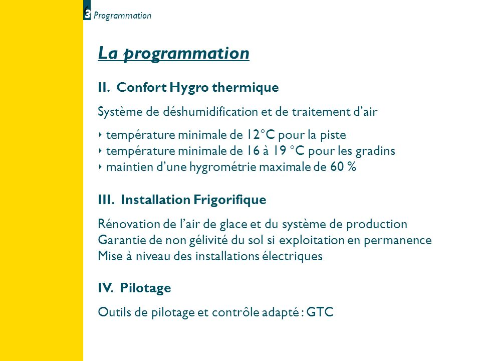 La programmation II. Confort Hygro thermique