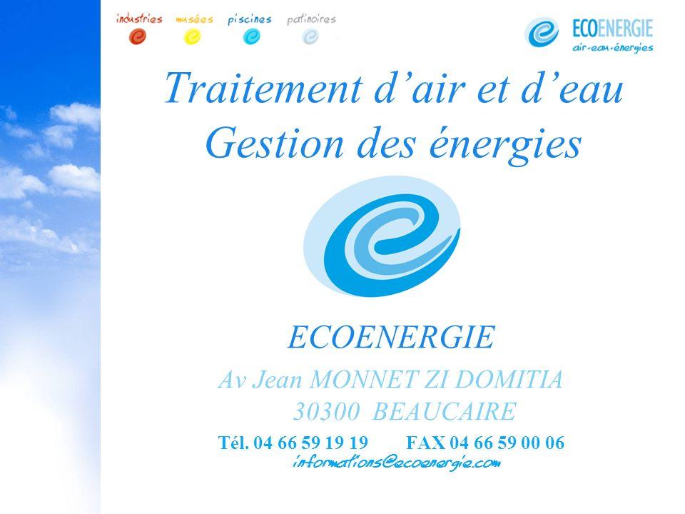 Traitement d'air et d'eau Gestion des énergies