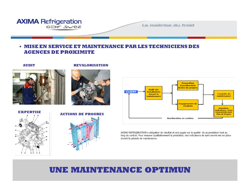 UNE MAINTENANCE OPTIMUN