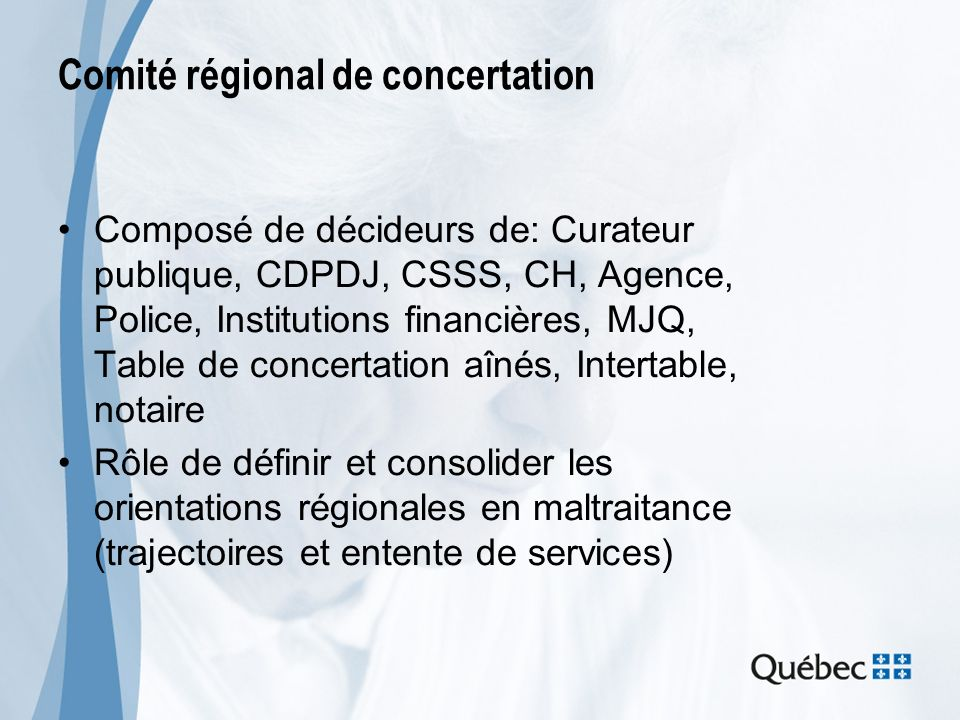 Comité régional de concertation