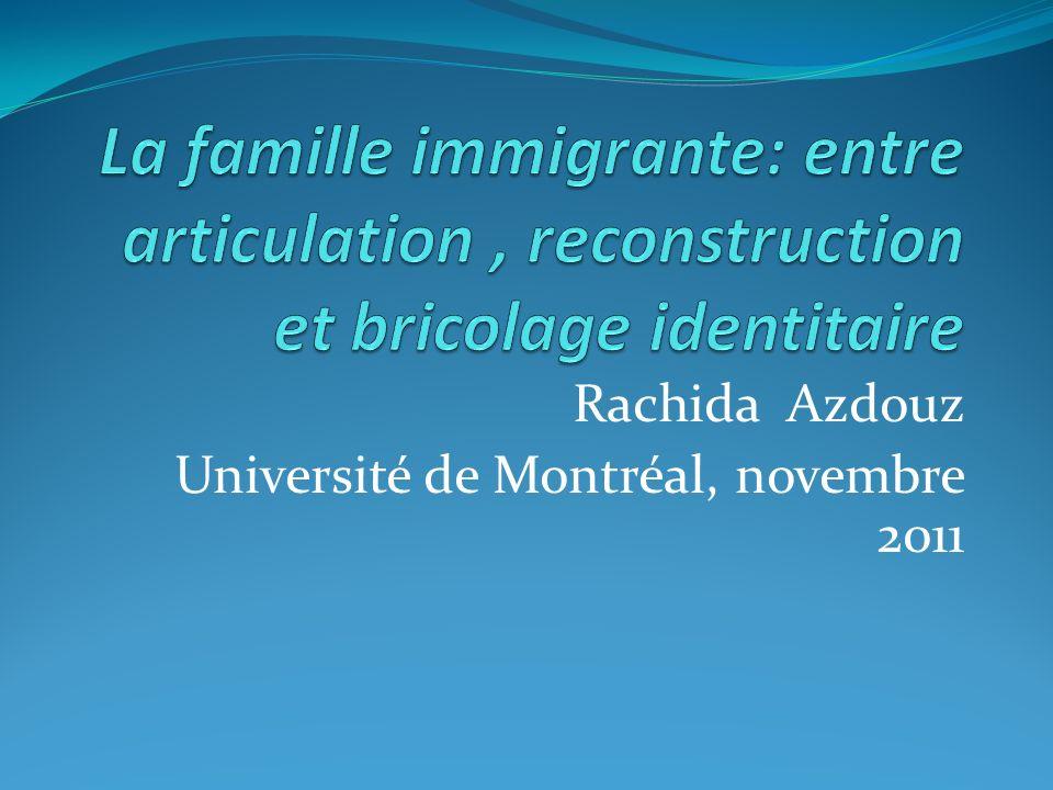 Rachida Azdouz Université de Montréal, novembre 2011