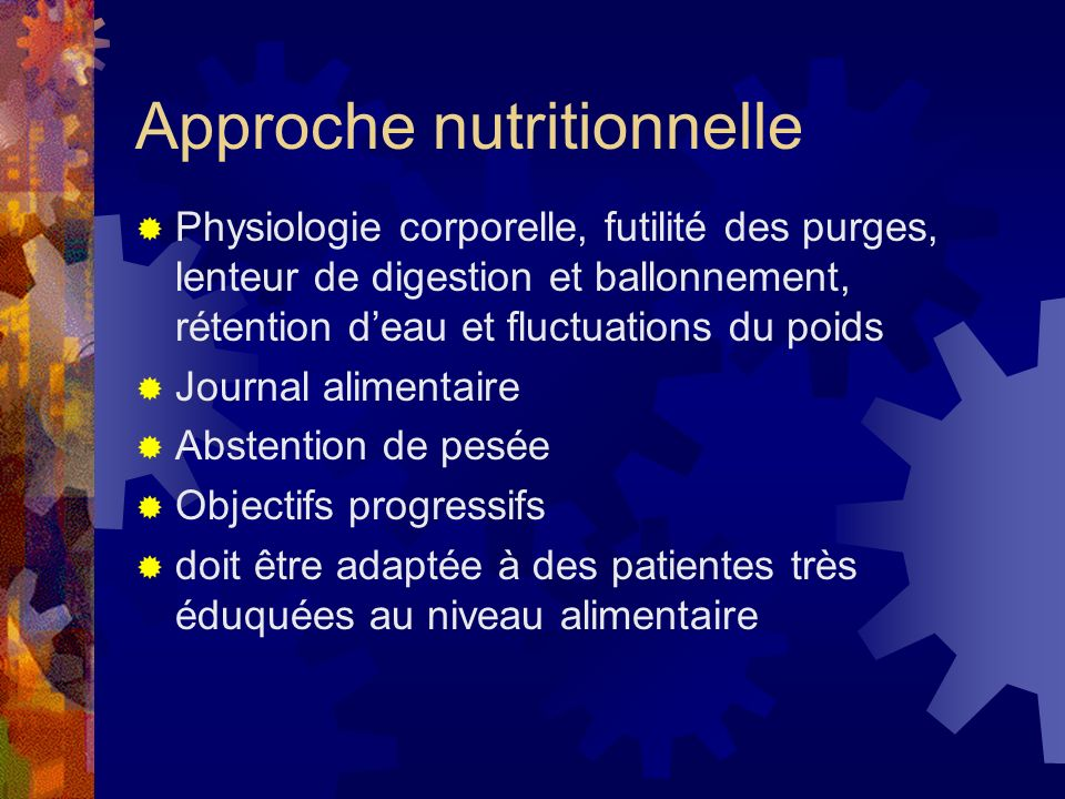 Approche nutritionnelle