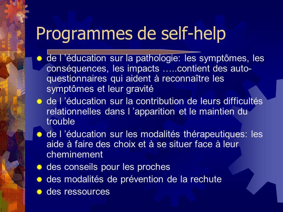 Programmes de self-help