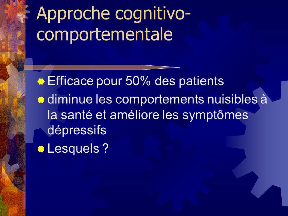 Approche cognitivo-comportementale