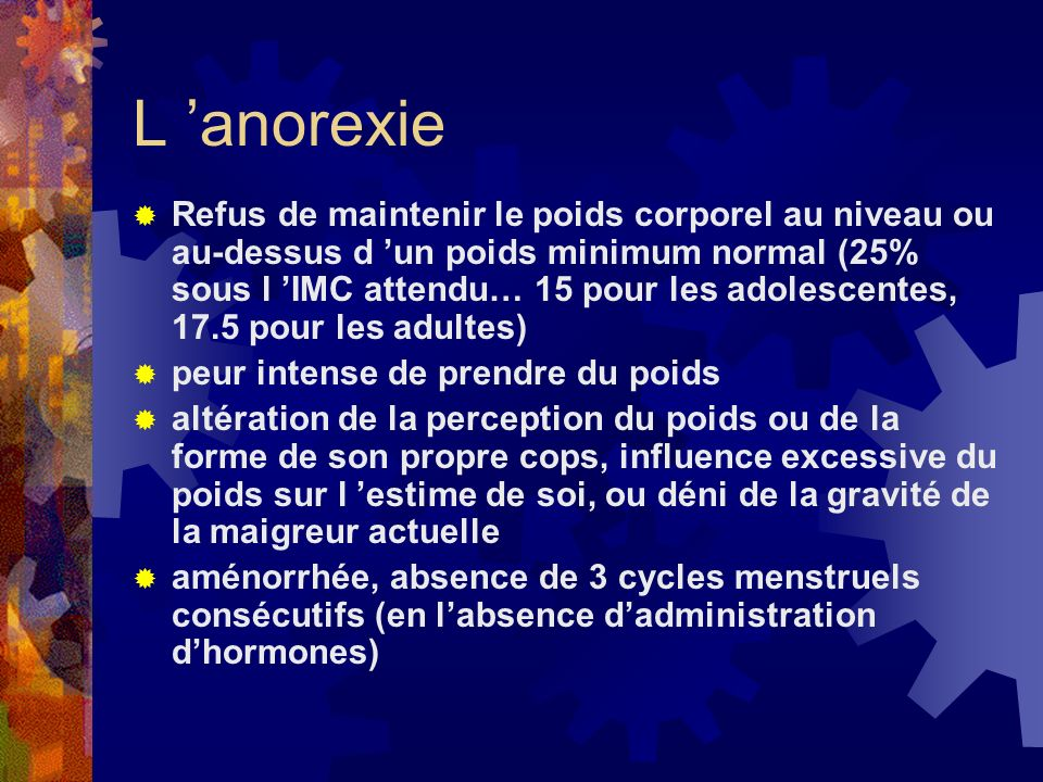 L 'anorexie