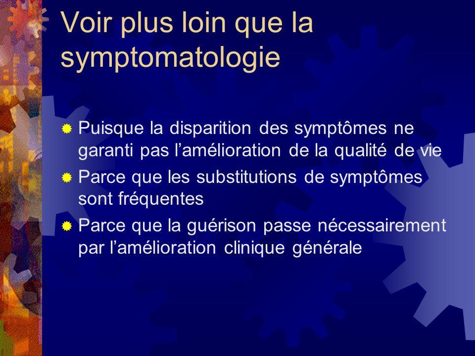 Voir plus loin que la symptomatologie