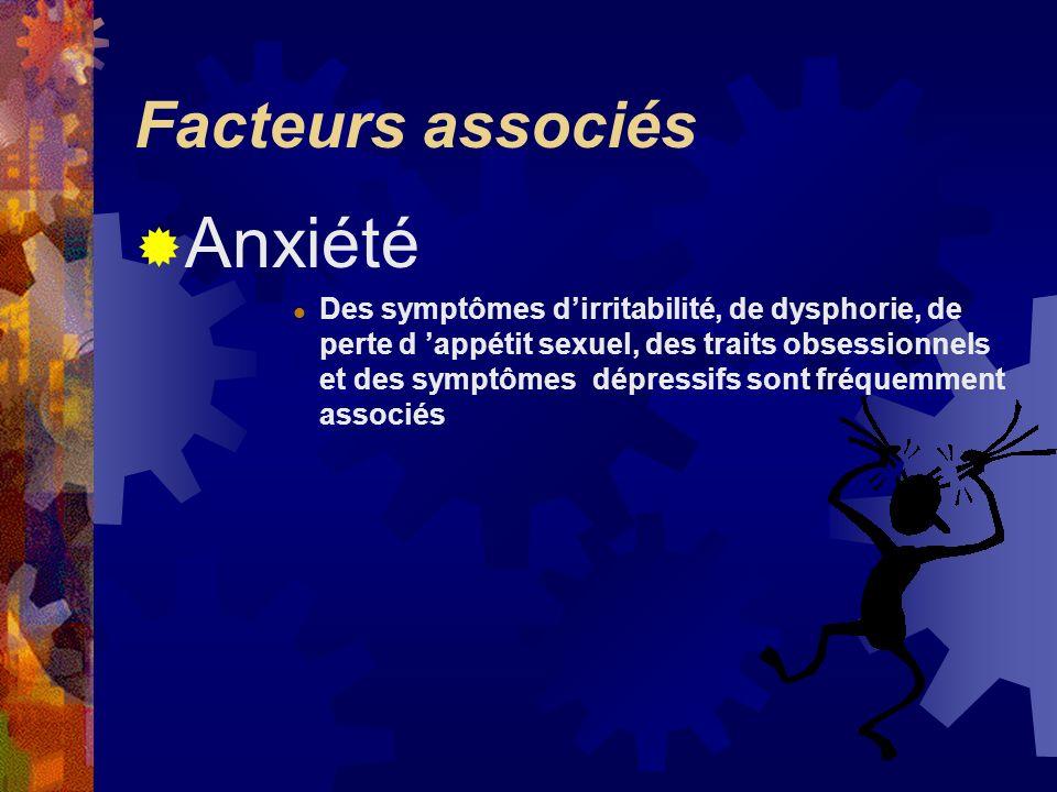 Anxiété Facteurs associés