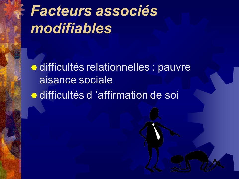 Facteurs associés modifiables