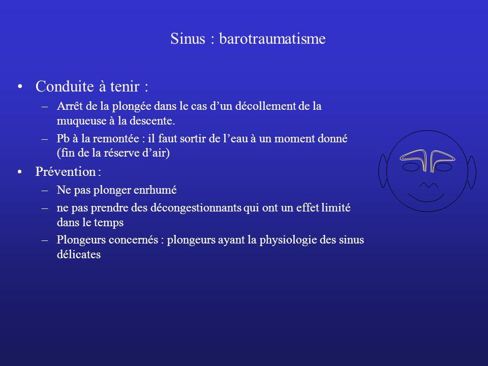 Sinus : barotraumatisme