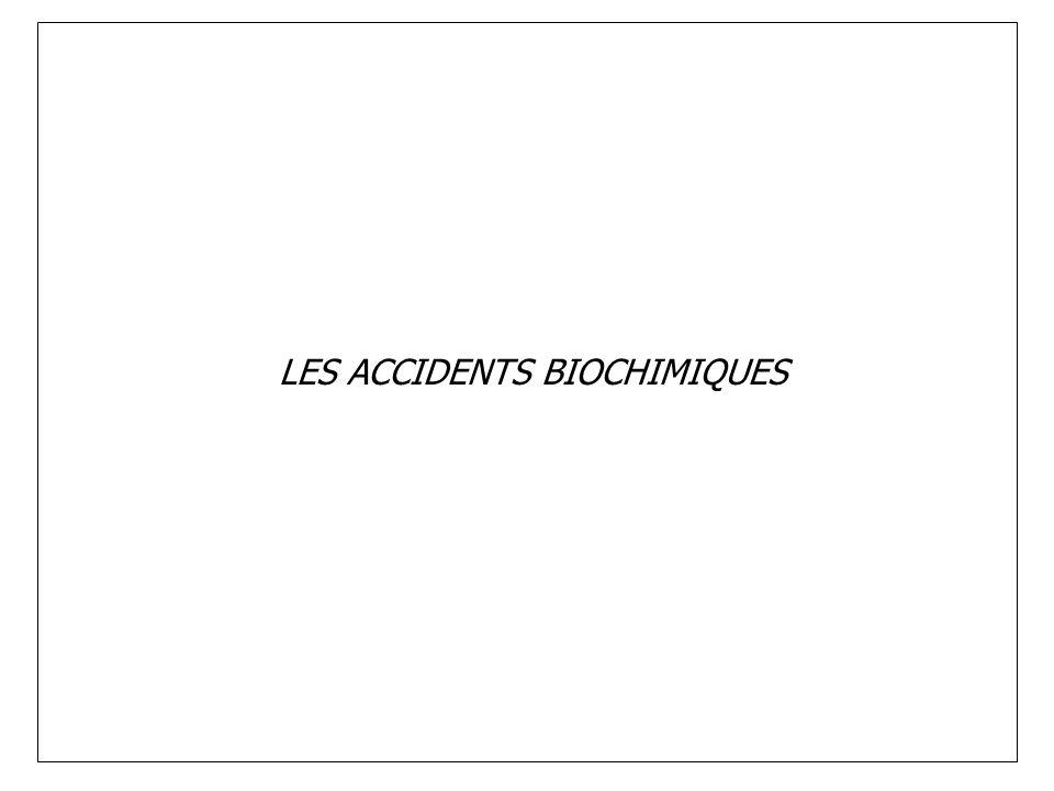 LES ACCIDENTS BIOCHIMIQUES