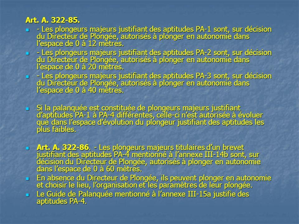 Art. A. 322-85.