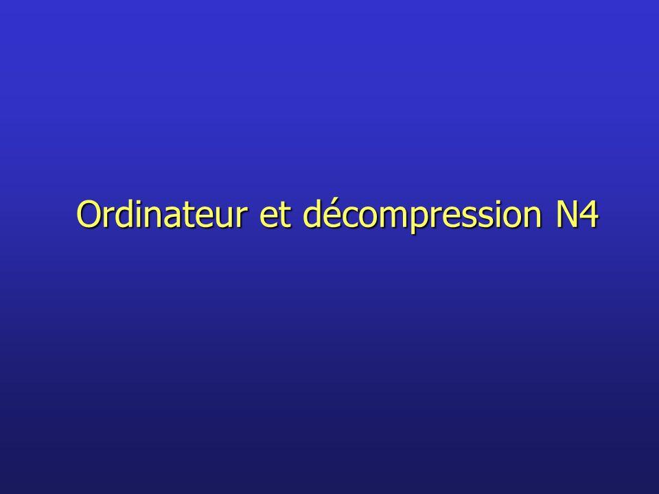 Ordinateur et décompression N4