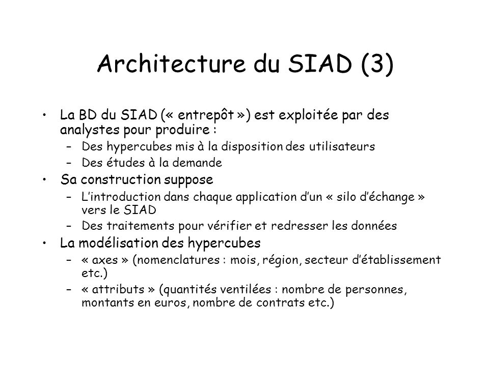 Architecture du SIAD (3)