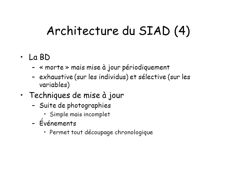 Architecture du SIAD (4)