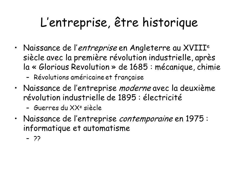 L'entreprise, être historique