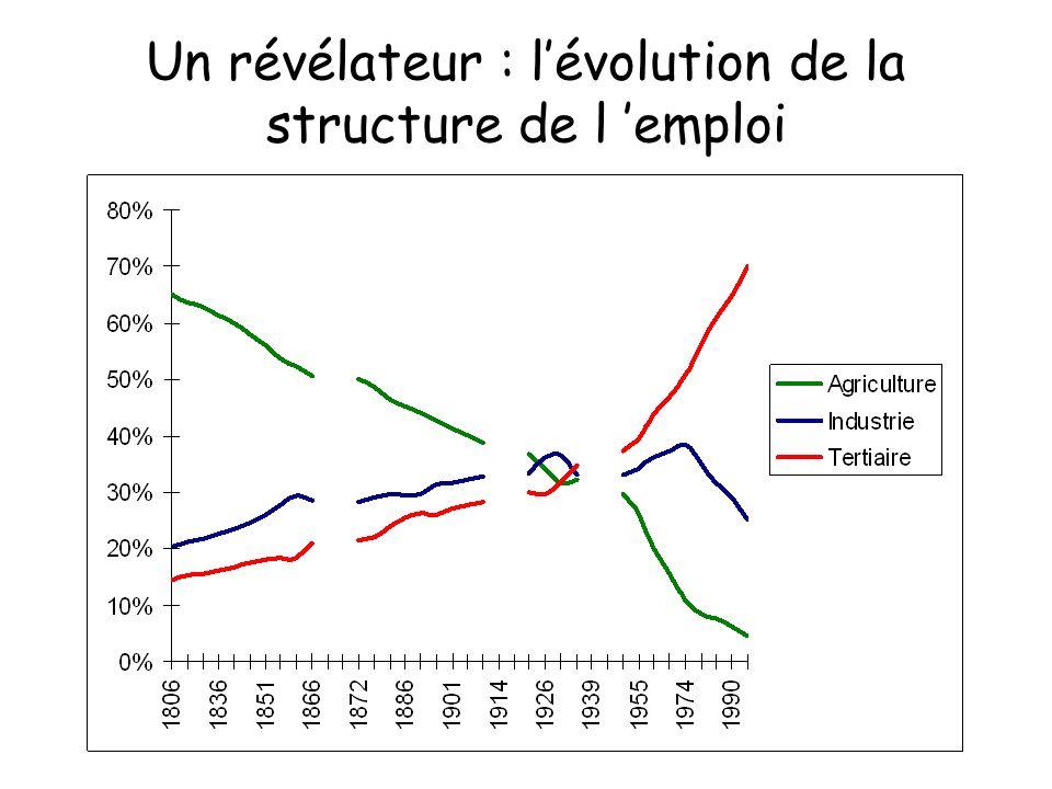 Un révélateur : l'évolution de la structure de l 'emploi