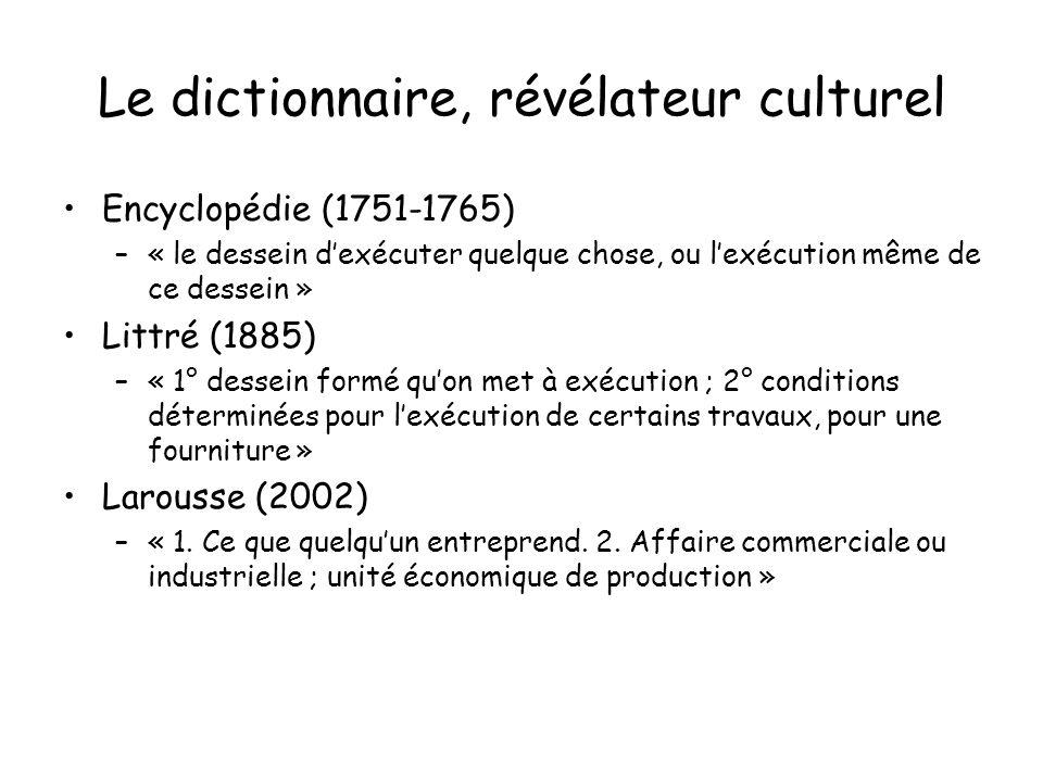 Le dictionnaire, révélateur culturel