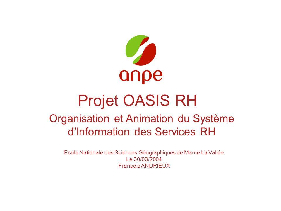 Projet OASIS RH Organisation et Animation du Système d'Information des Services RH. Ecole Nationale des Sciences Géographiques de Marne La Vallée.