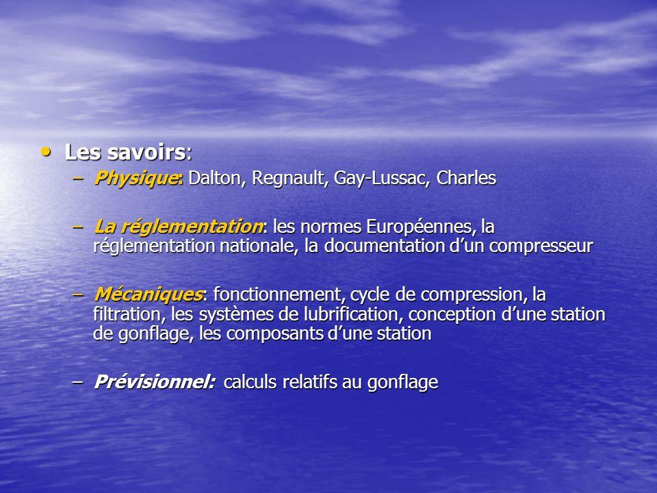 Les savoirs: Physique: Dalton, Regnault, Gay-Lussac, Charles