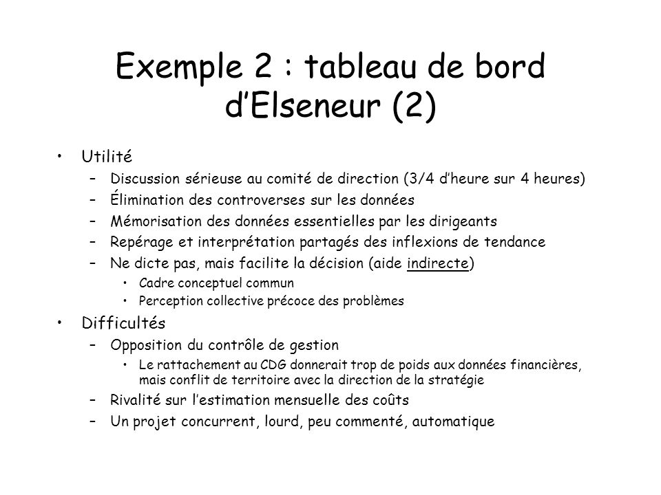 Exemple 2 : tableau de bord d'Elseneur (2)