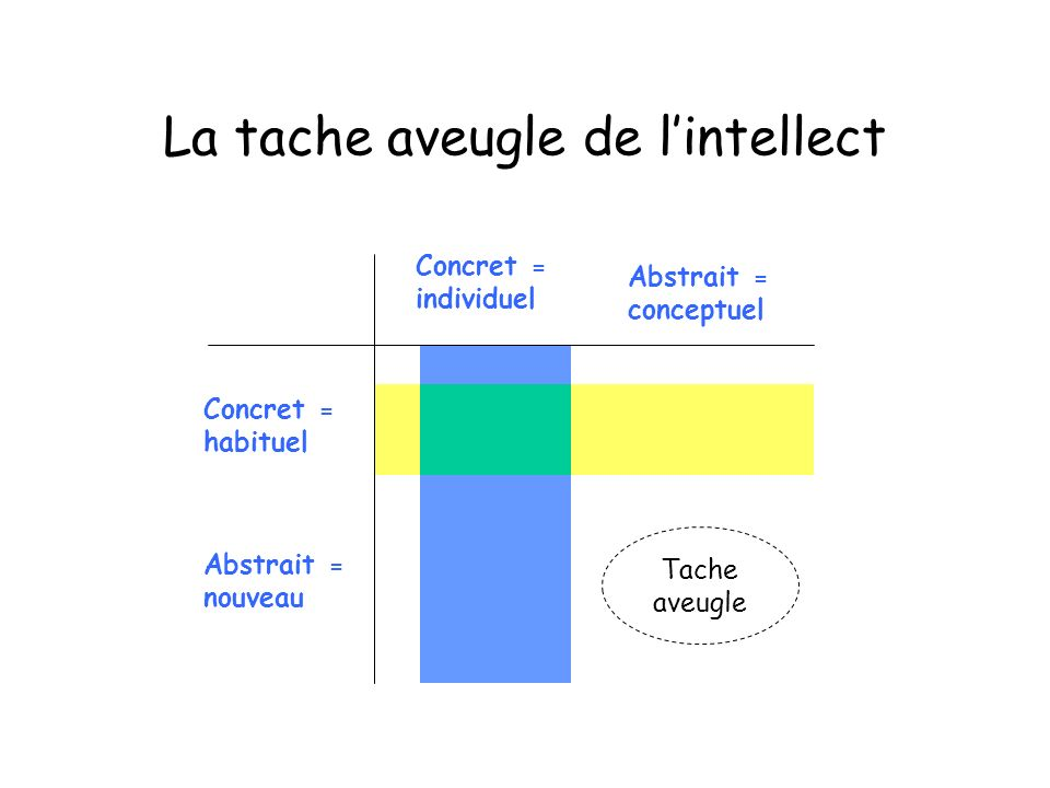 La tache aveugle de l'intellect