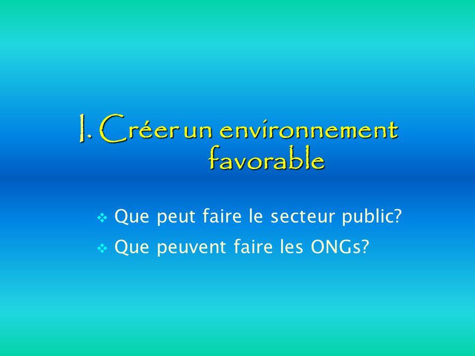 I. Créer un environnement favorable