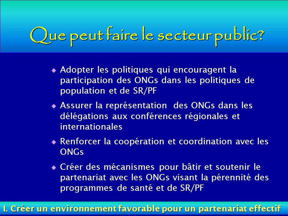 Que peut faire le secteur public