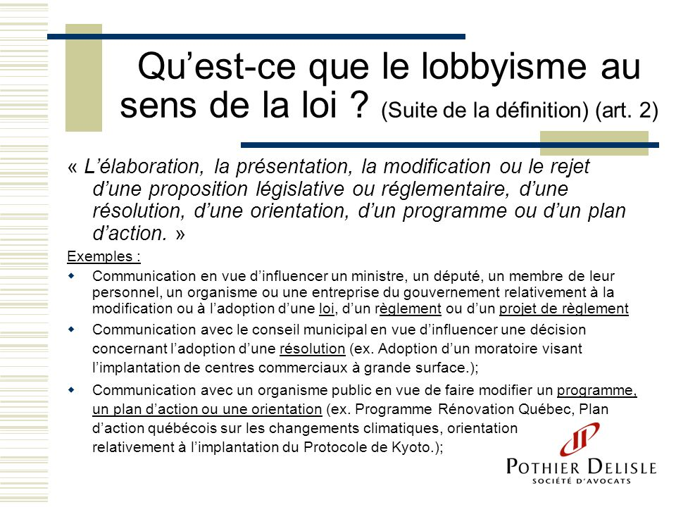 Tes vous un lobbyiste ppt video online t l charger for Qu est ce que le plan de masse