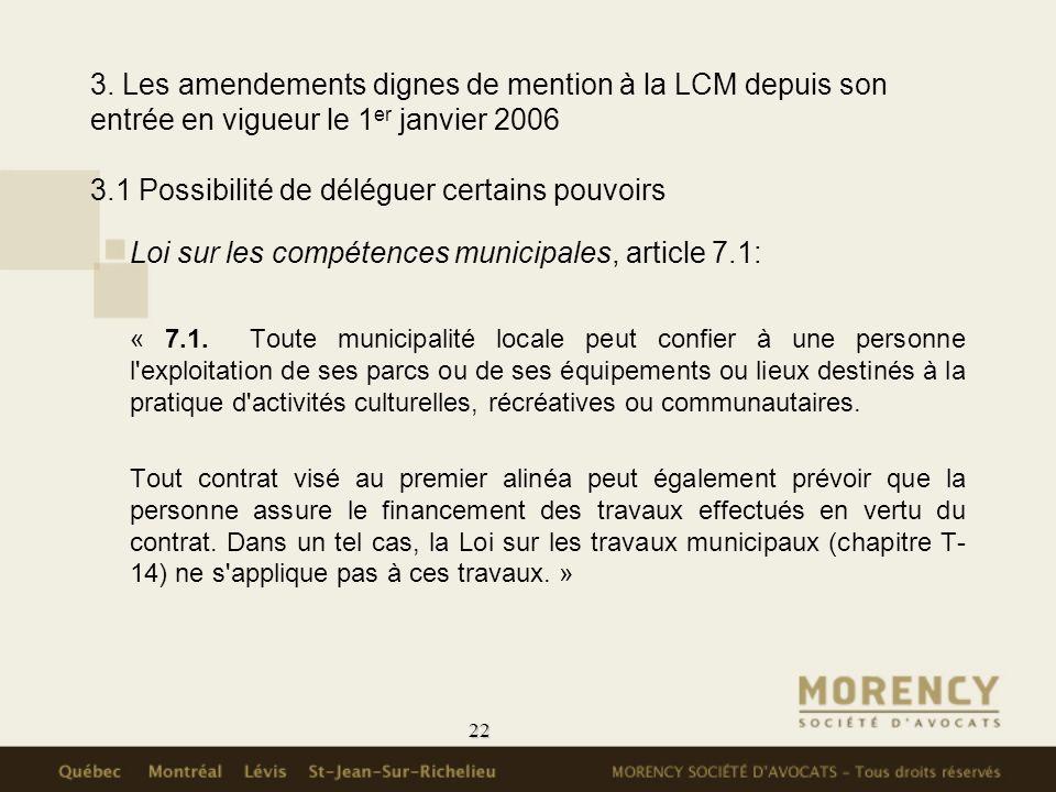 Loi sur les compétences municipales, article 7.1:
