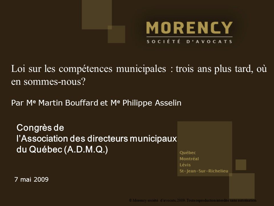 Par Me Martin Bouffard et Me Philippe Asselin
